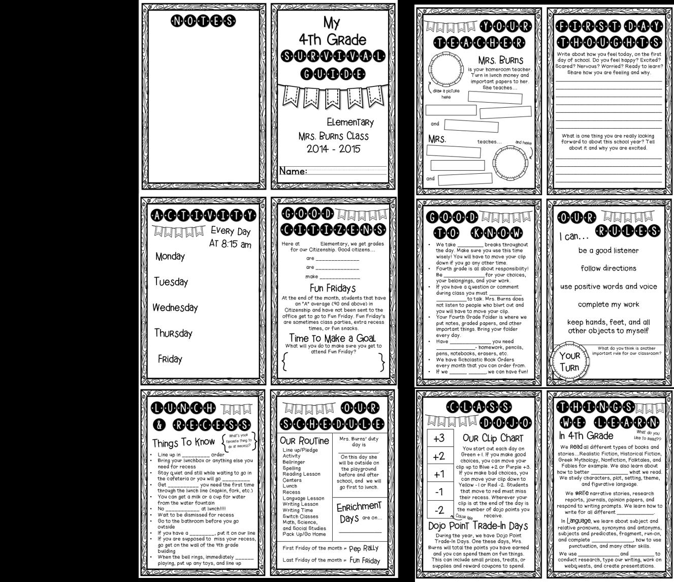 http://www.teacherspayteachers.com/Product/Back-to-School-Survival-Guide-Editable-1275114