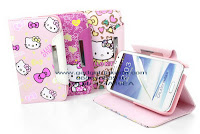 Wallet Case Hello Kitty Samsung Galaxy NoteII N7100 - Gadget Jakarta