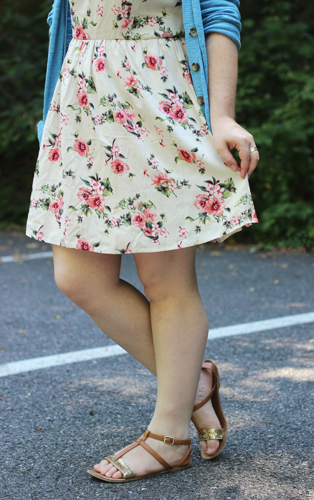 outfit floral dress