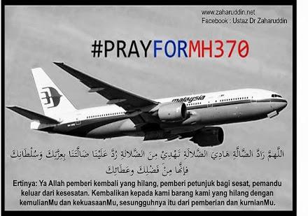 YA ALLAH, temuikanlah kami dengan MH370