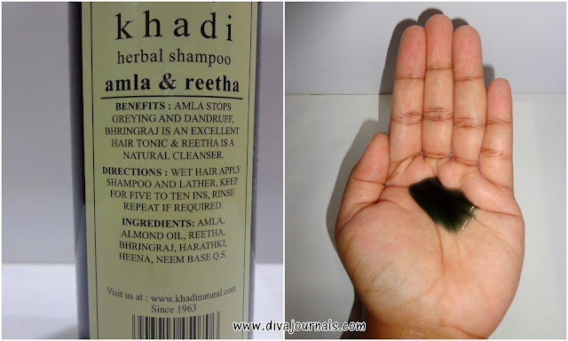 Khadi Herbals Amla and Reetha Shampoo Review