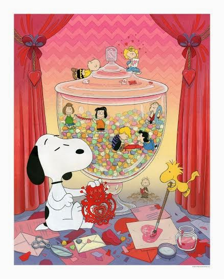 """Snoopy Valentine"" Standard Edition Giclee Print by Nicole Gustafsson"