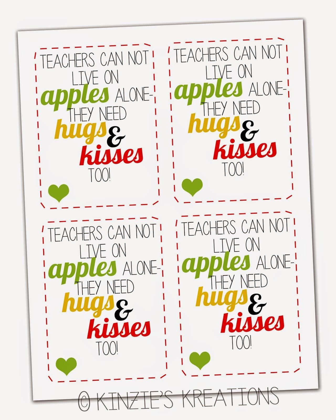 Kinzie S Kreations Apples Kisses Amp Hugs Teacher Thank You