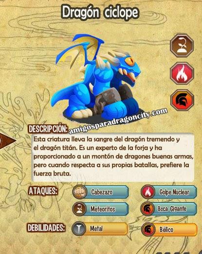 imagen de las caracteristicas del dragon ciclope