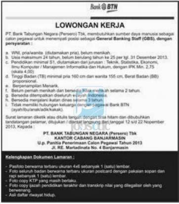 Lowongan Kerja Indonesia 2014: Bangka Belitung  Info