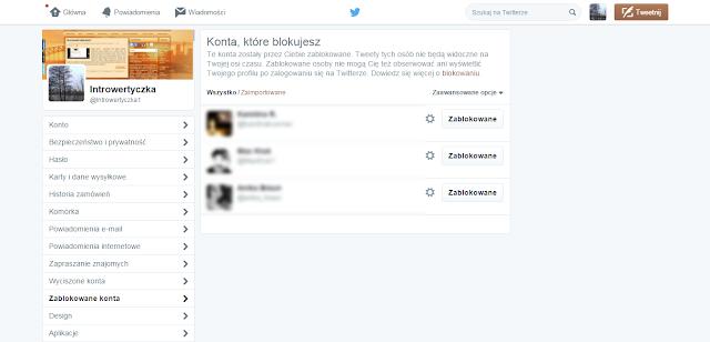 Twitter - zablokowane konta