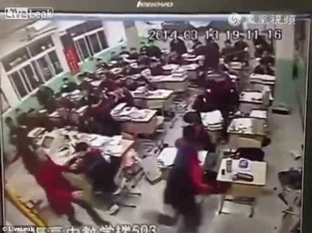 Video Captures Moment Chinese Student Jumps Through Window