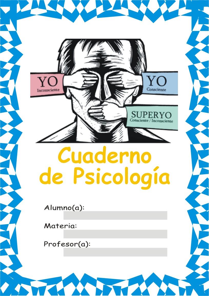 carátula para el curso de psicología portada perfecta para anunciar