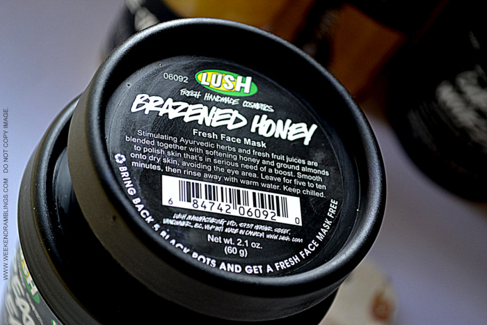 Lush Organic Natural Skincare Haircare Products Must Have Favorites Indian beauty Makeup Blog Reviews brazened honey fresh face mask