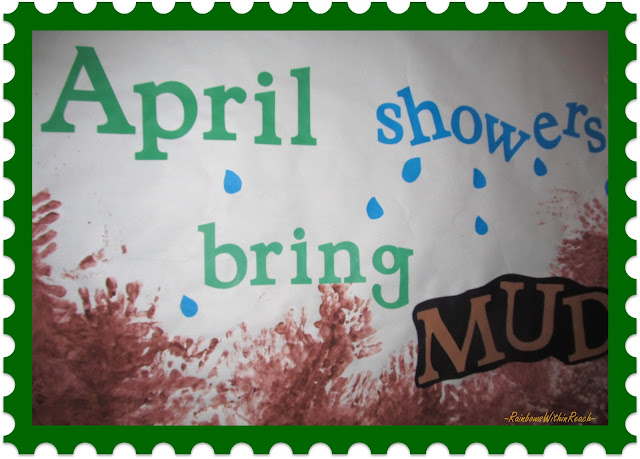 "Spring bulletin board (from ""Hand"" RoundUP via RainbowsWithinReach)"