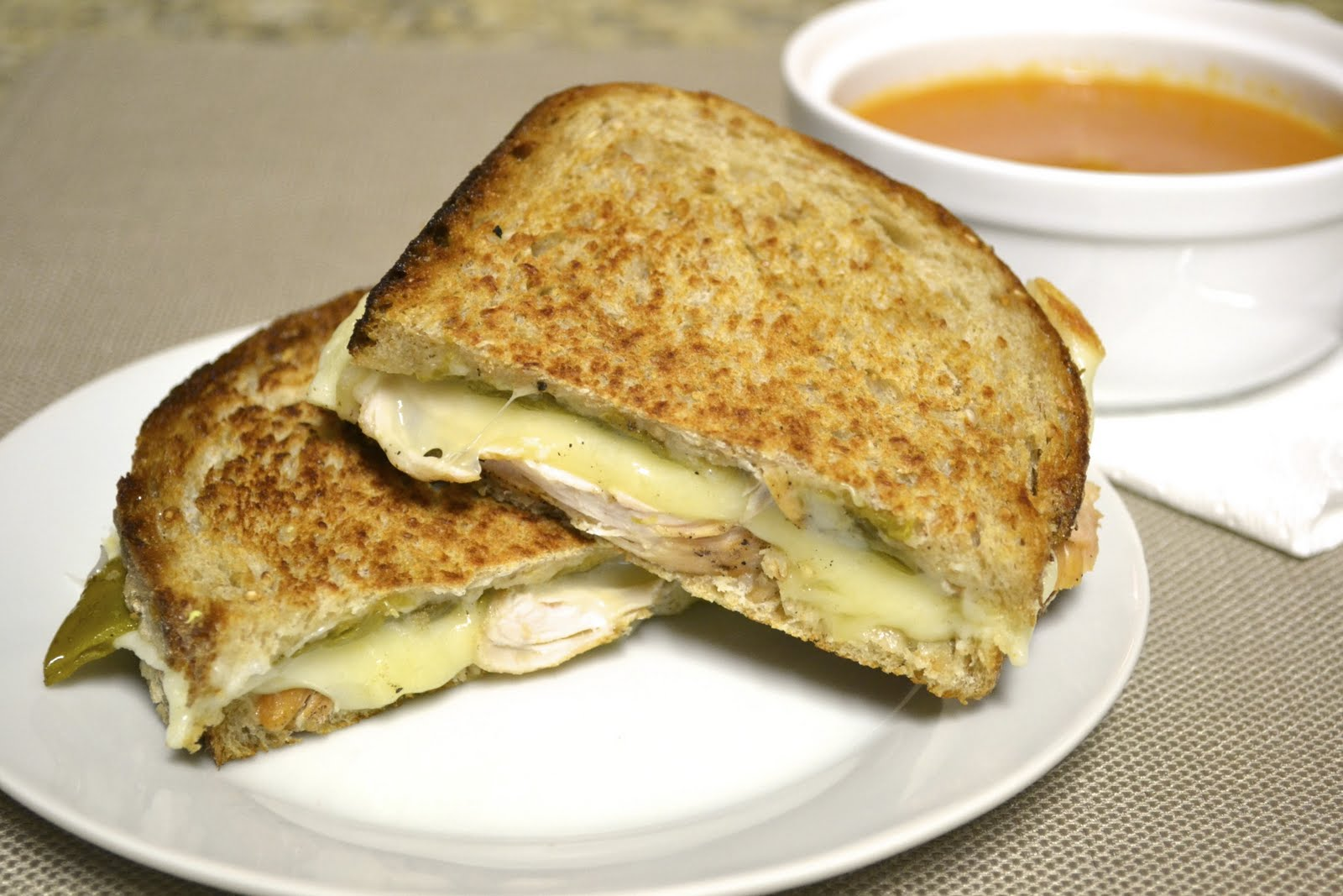 Green Chile Gourmand: Day 1: Green Chile Chicken Panini
