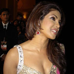 Priyanka Chopra Hottest Cleavage Show In Saree