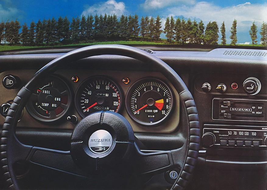 wnętrza klasycznych samochodów, japońskie, suzuki fronte coupe, kei car, małe samochody