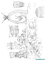 Mewarnai Gambar Kerajaan Alligator Beserta Rakyatnya