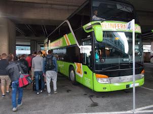 The ultra posh luxury International bus from Vienna to Prague.