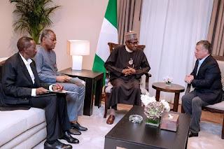 Buhari meets King Abdullah of Jordan over global terrorism