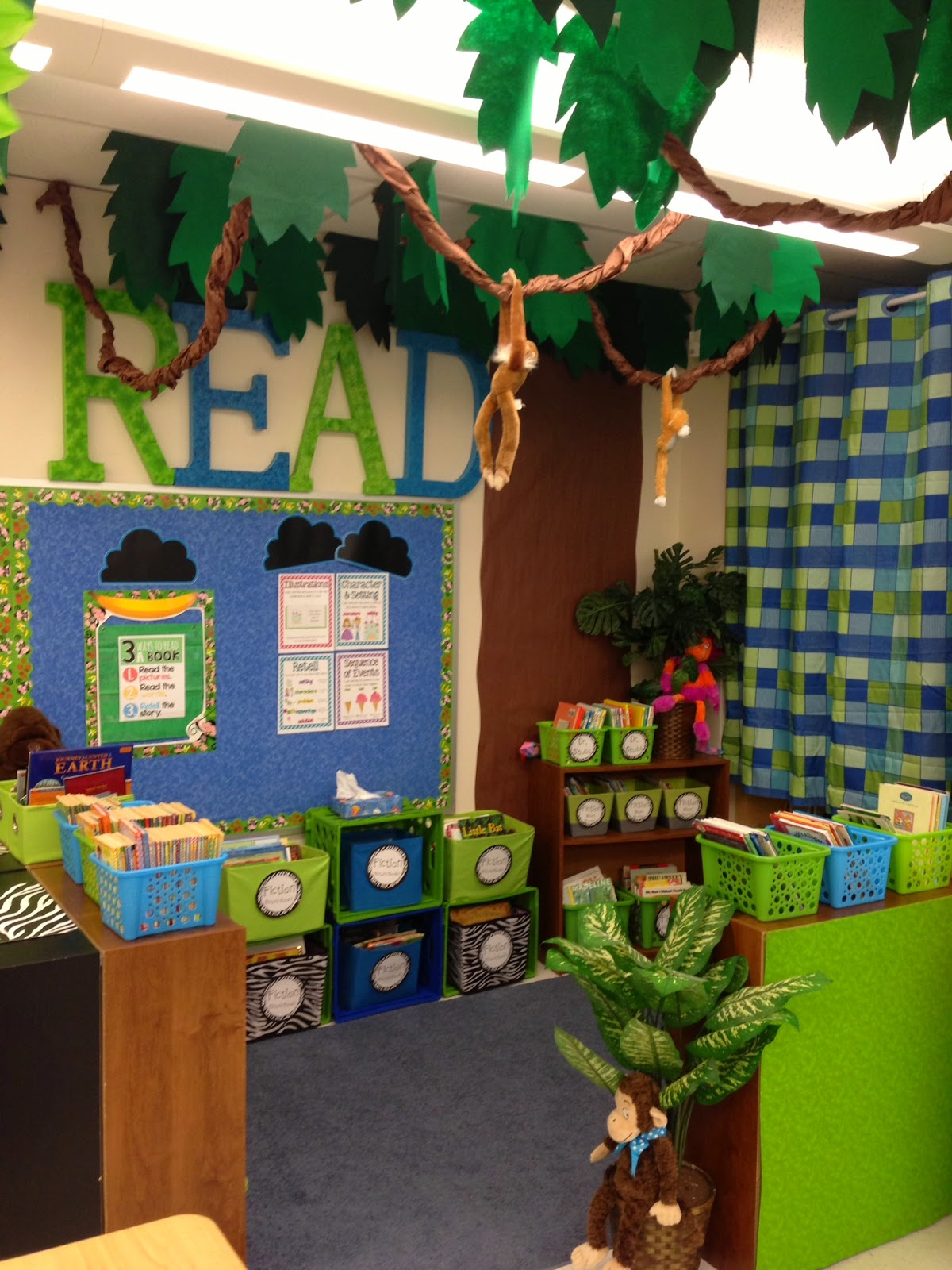 Classroom Decor Jungle ~ Hoppin teacher week my classroom digs