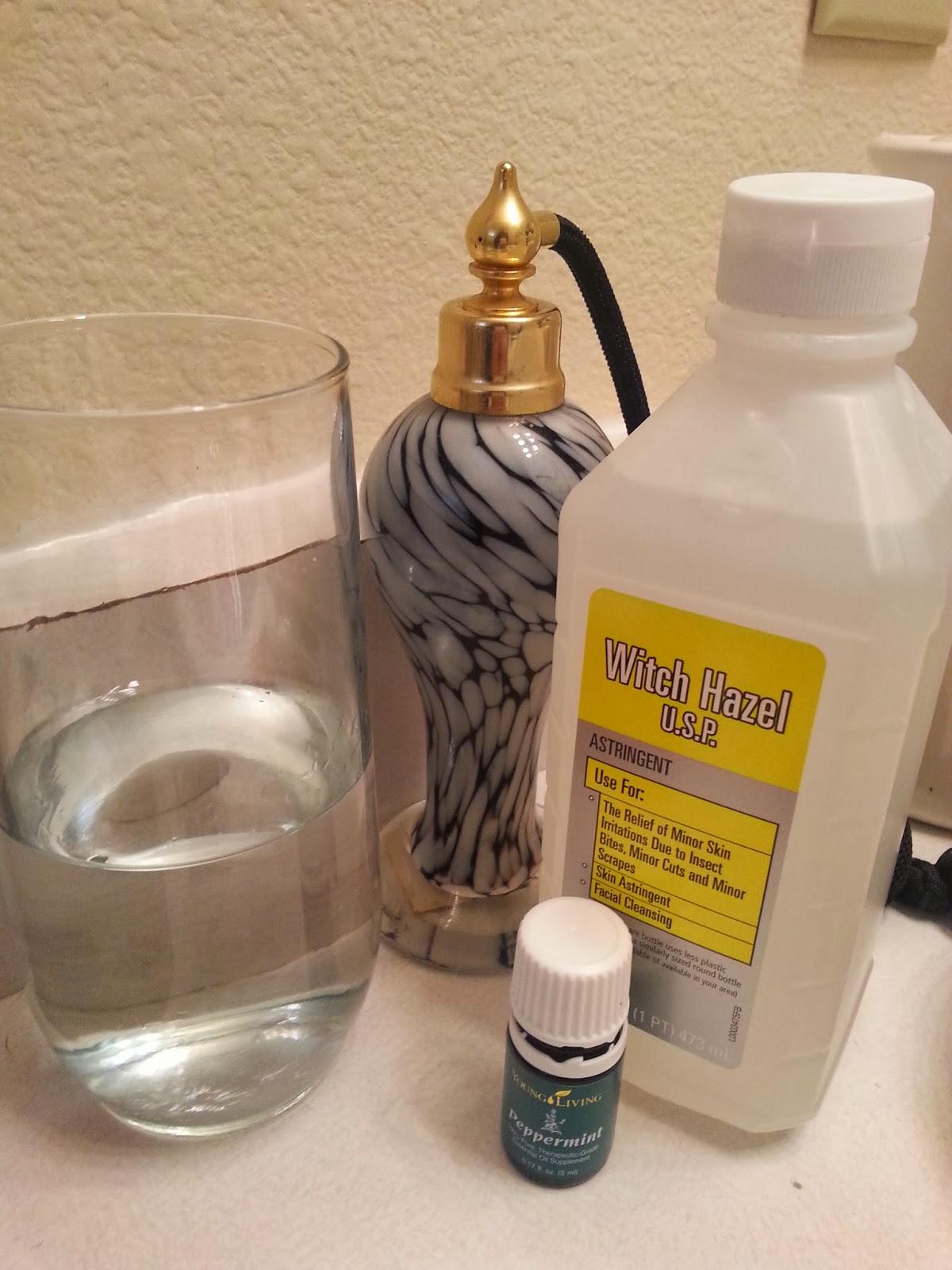 how to make body spray with witch hazel