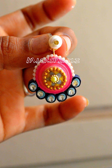 quilled ramleela type earrings