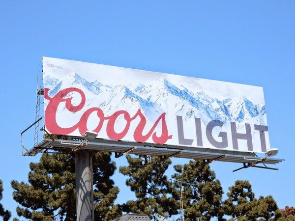 Coors Light beer billboard 2015