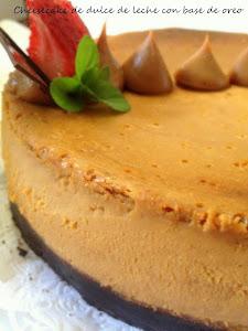 cheesecake dulce de leche y base de oreo