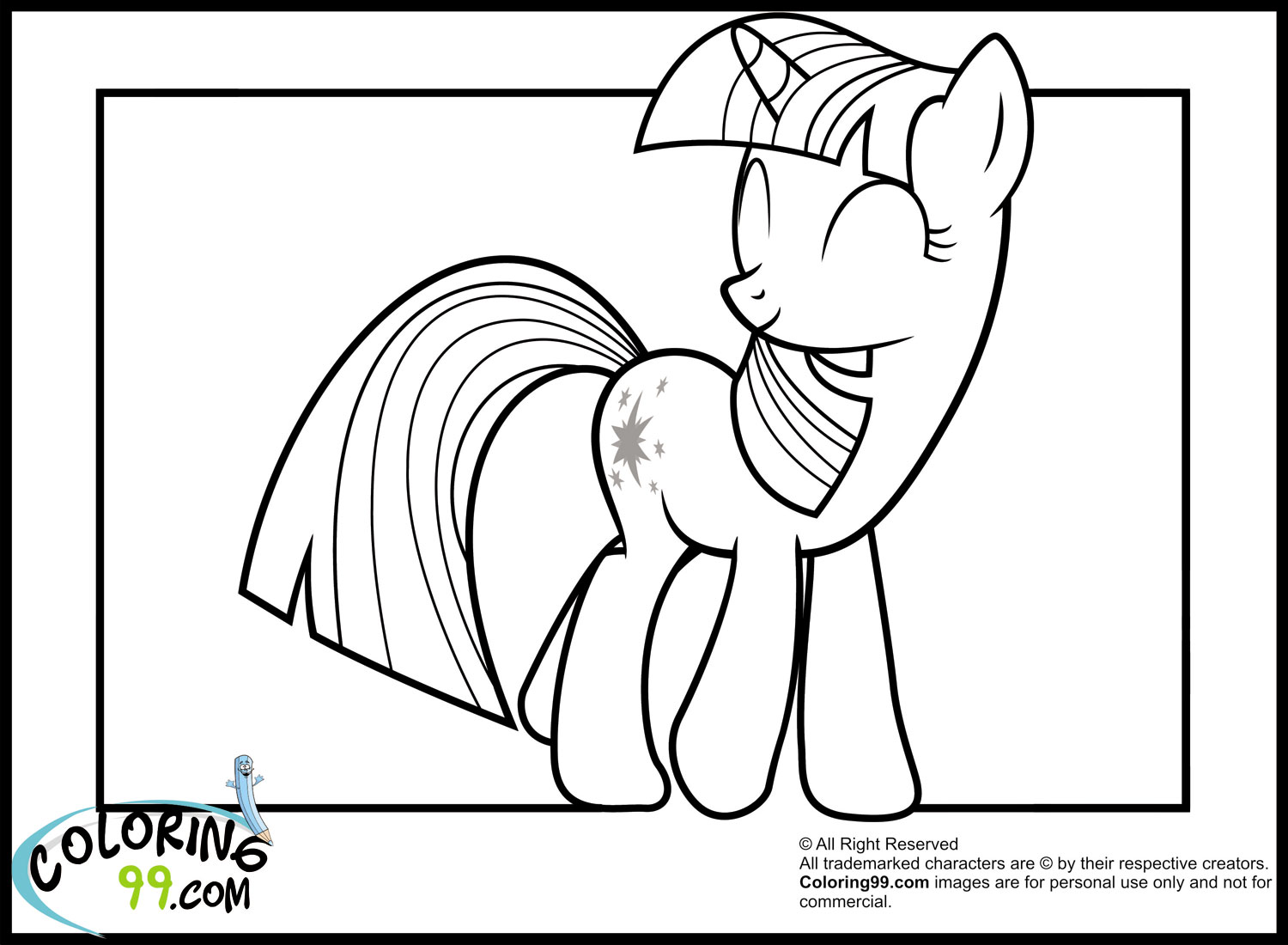 My Little Pony Twilight Sparkle Coloring Pages Minister