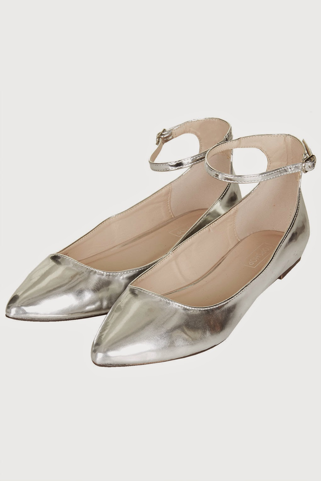 topshop silver shoes, silver flat shoes, silver pointed flats, pointed toe silver shoes,