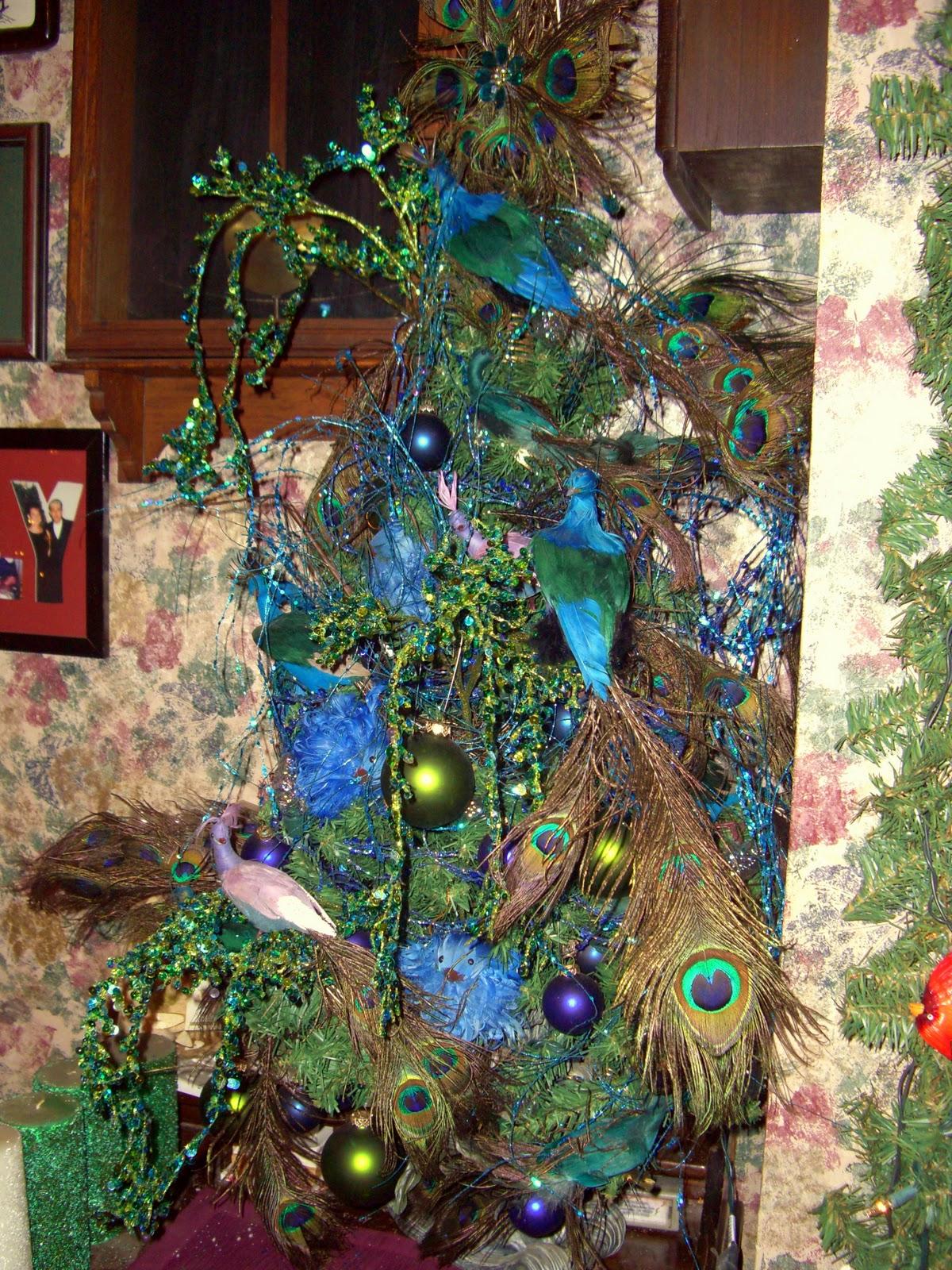 house full of christmas trees