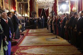 Todo el Cuerpo Diplomático acreditado acudió a escuchar el primer discurso de Felipe VI