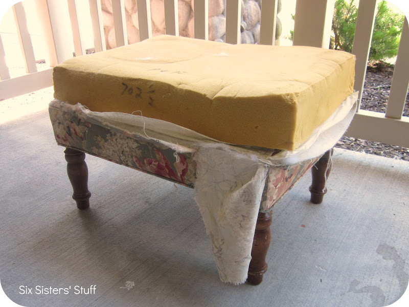 step 1 find an ottoman that you are looking to recover i have seen