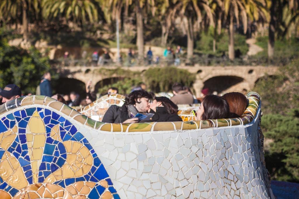 Love in Gaudi's shapes - Copyright © Marcin Michalak Photography.