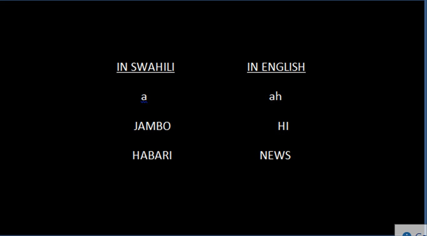 Learn two swahili words a day 2013 this is the simplest swahili greeting and is often the first word learned by any foreign visitor to swahili land the second word is habari which one will m4hsunfo