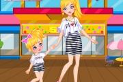Anne Kız Alışverişte Oyunu