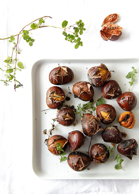 Dan Roman's Buttery Roasted Chestnuts In Foil Recipe — Dishmaps