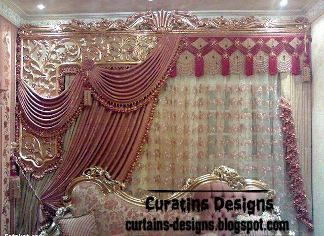 Luxury Greek drapery design for royal living room | Curtain ...