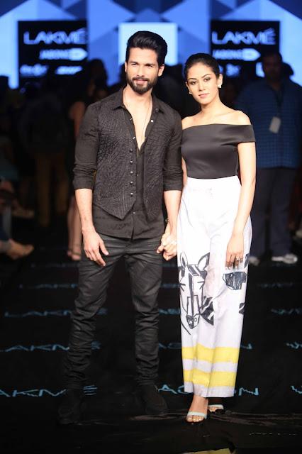 Shahid Kapoor with Mira Rajput for Masaba