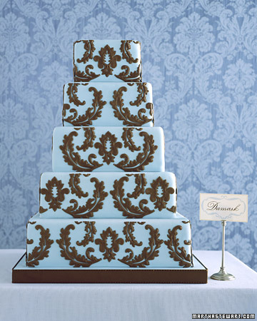Wedding Wednesday Blue Cakes