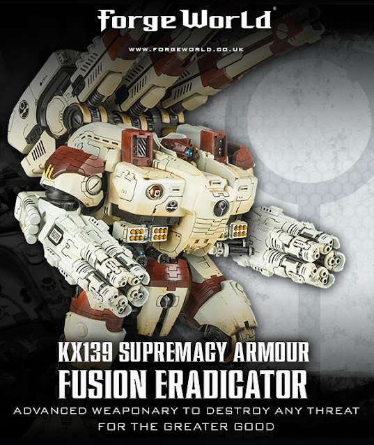 Novedades de Forge World: Tau KX139 Ta'unar Supremacy Armour with Fusion Eradicators