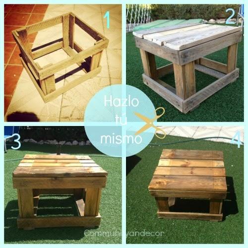 tutorial para reciclar palets para crear una mesa de jardin reciclada