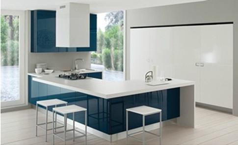 Decora y disena 12 cocinas color azul italianas modernas - Cocinas modernas italianas ...