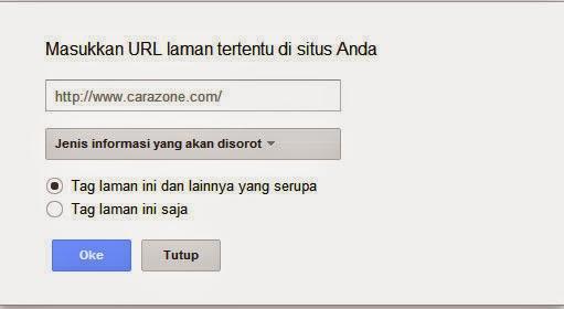 memasukkan sebuah URL