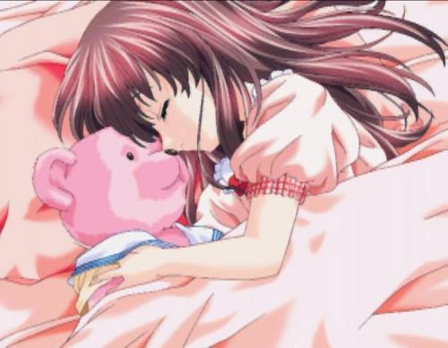 ♕ SPIRIT BRINGERS: EMPYREAN REALM. (SAGA DE DENEB) - Página 6 Anime+girl+sleeping+with+teddy