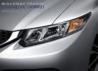 Detalhe Farol do Novo Honda civic 2013 sedan
