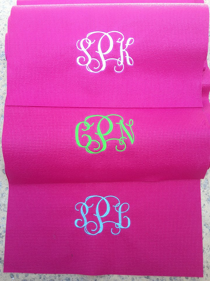 mat beaute mats personalised monogram handmade bag monogrammed totes light yoga dp bags amore