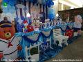 Festa com tema Ursinho Marinheiro para comemorar aniversário infantil de meninos de 1 ou 2 anos - mesa decorada infantil