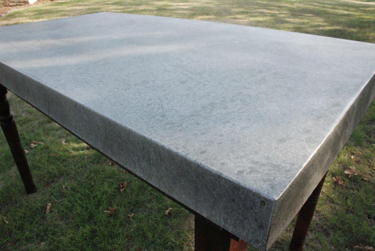 Waterhouse market reclaimed wood zinc top pub table for 100 year old oak table