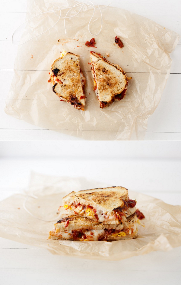 exPress-o: Roasted Tomato & Egg Grilled Cheese Sandwich