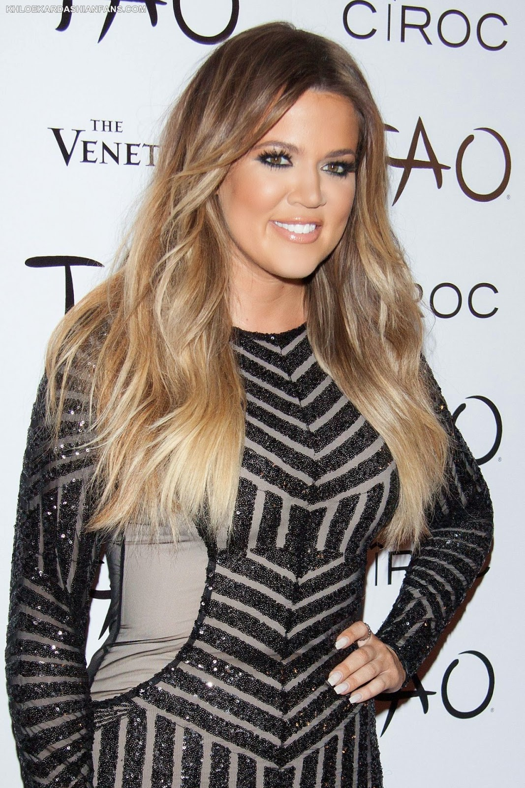 Khloe Kardashian celebrates 30th birthday in a sequinned mini-dress in Las Vegas