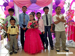 MyeDomain's  A Bunch of KIKO's First Times at MICA's 7th Birthday Party / his first time to be included in 7 roses