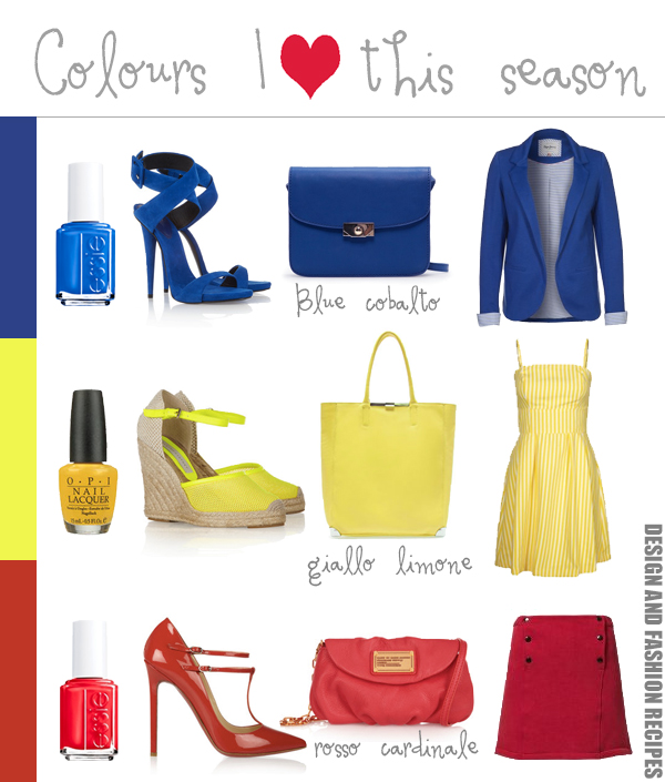 Colour trends SS 2013 on Design and fashion recipes
